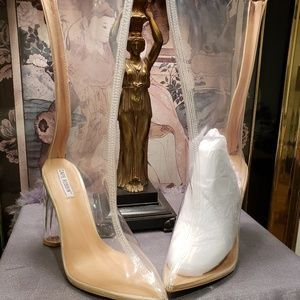 Clear plastic boots